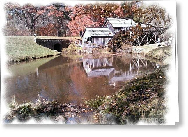 Virginia Postcards Greeting Cards - Blue Ridge Parkway Mabry Mill  Greeting Card by Angelia Hodges Clay