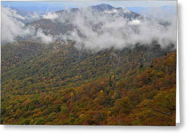 Blue Ridge Parkway Mountain View Greeting Card by Susan Leggett