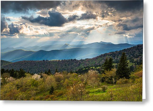 Blue Ridge Parkway North Carolina Mountains Gods Country Greeting Card by Dave Allen