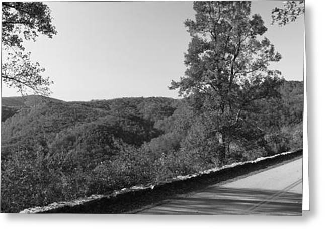 Roadway Greeting Cards - Blue Ridge Parkway, North Carolina, Usa Greeting Card by Panoramic Images