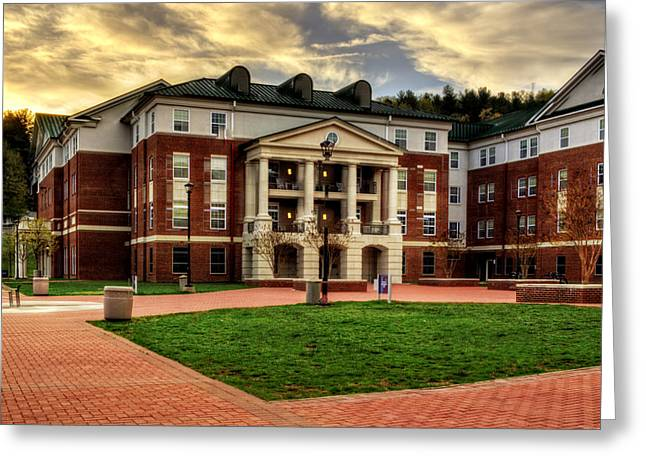 Wcu Greeting Cards - Blue Ridge Residence Hall - WCU Greeting Card by Greg and Chrystal Mimbs