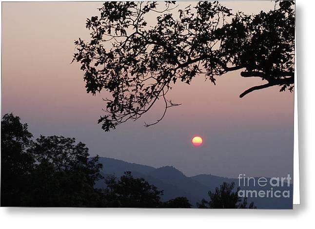 Jonathan Welch Greeting Cards - Blue Ridge Sunrise Greeting Card by Jonathan Welch