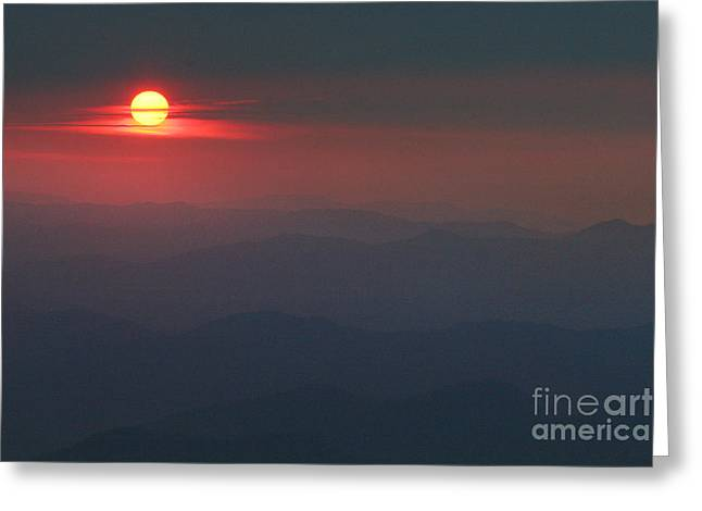 Jonathan Welch Greeting Cards - Blue Ridge Sunset 5 Greeting Card by Jonathan Welch