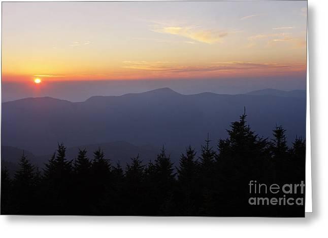 Jonathan Welch Greeting Cards - Blue Ridge Sunset 6 Greeting Card by Jonathan Welch