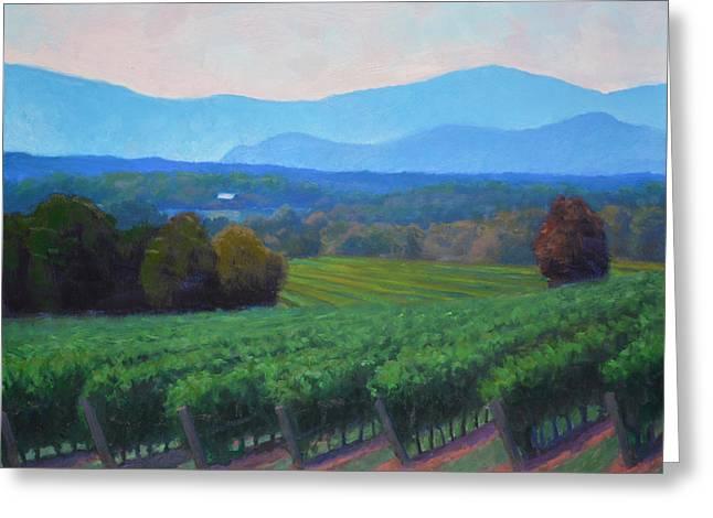 Blue Grapes Greeting Cards - Blue Ridge Views Greeting Card by Armand Cabrera