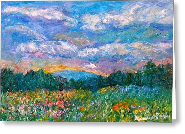 Kendall Kessler Greeting Cards - Blue Ridge Wildflowers Greeting Card by Kendall Kessler