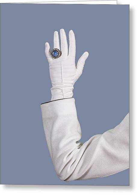 Upper Class Photographs Greeting Cards - Blue Ring Greeting Card by Joana Kruse