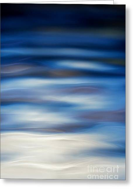Blues Greeting Cards - Blue Ripple Greeting Card by Tim Gainey