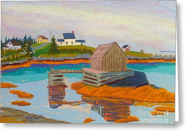 Shack Pastels Greeting Cards - Blue Rocks Greeting Card by Rae  Smith