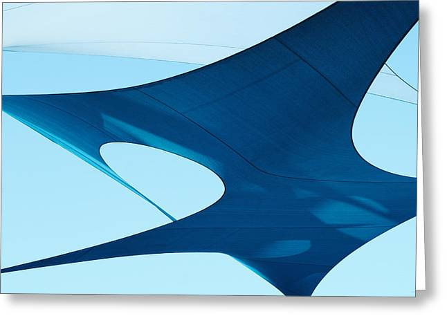 Donna Lee Greeting Cards - Blue Sails Greeting Card by Donna Lee