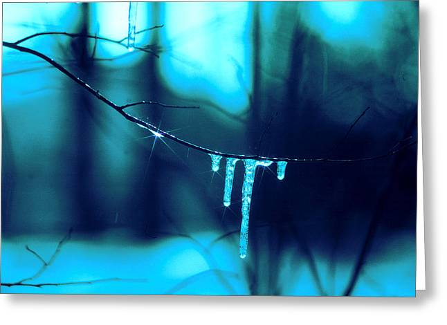 Innocence Greeting Cards - Blue Scape Greeting Card by Mike Flynn