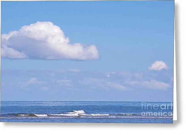 North Frisia Greeting Cards - Blue Sea Greeting Card by Angela Doelling AD DESIGN Photo and PhotoArt