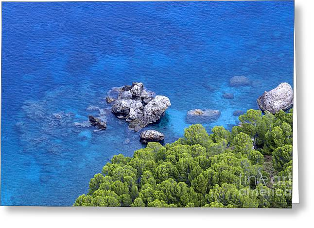 Blue sea Greeting Card by Boon Mee
