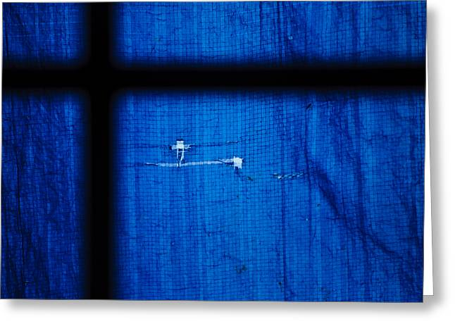 Blue Shade Greeting Card by Christi Kraft