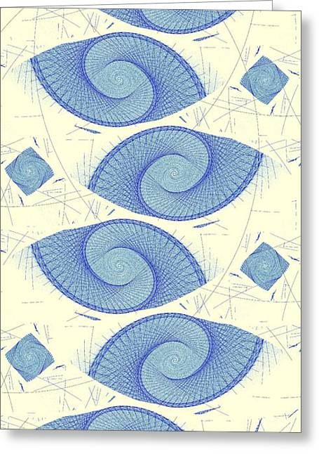 Sea Shell Digital Art Greeting Cards - Blue Shells Greeting Card by Anastasiya Malakhova