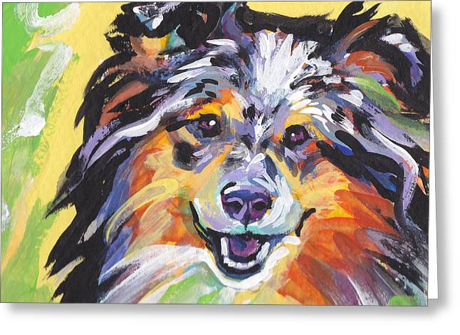 Shetland Dog Greeting Cards - Blue Sheltie Greeting Card by Lea