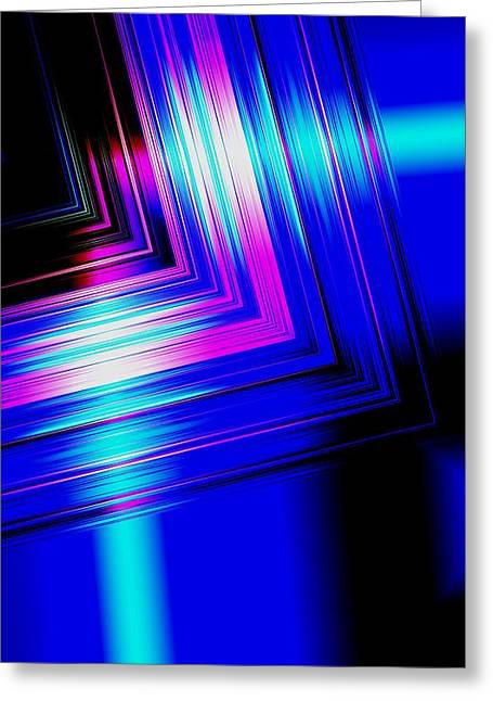 Transparency Geometric Greeting Cards - Blue Shine  Greeting Card by Mario  Perez
