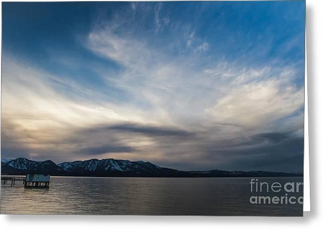 Blue Silk Greeting Card by Mitch Shindelbower