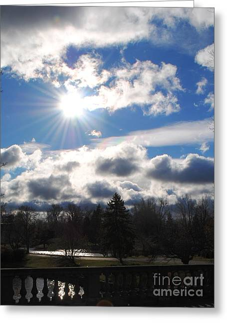 Esem8chart.com Greeting Cards - Blue Skies Above Greeting Card by Sarah Holenstein