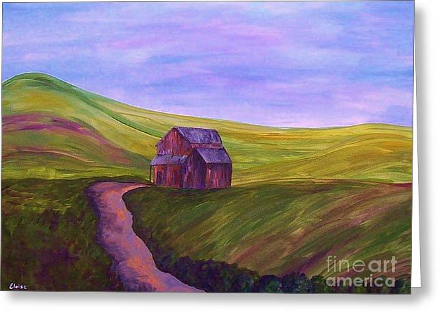 Green Hills Greeting Cards - Blue Skies in the Hill Country Greeting Card by Eloise Schneider