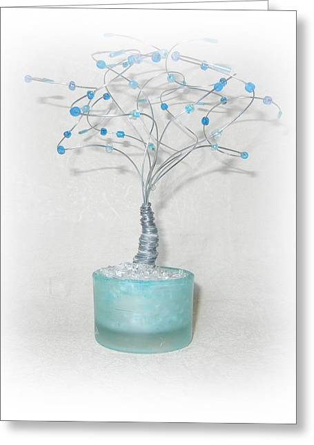 Silver Sculptures Greeting Cards - Blue Skies Greeting Card by Joyce  McCormick-Mabry
