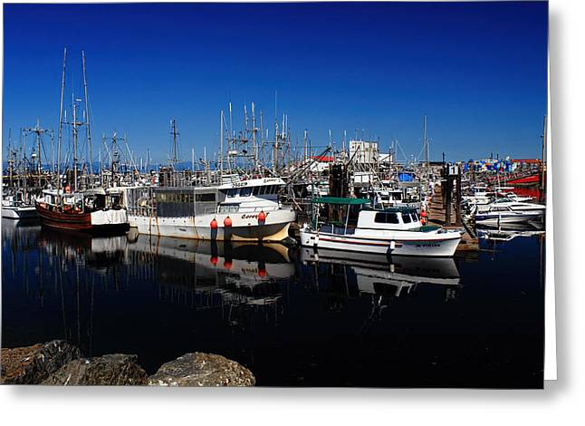 French Creek Marina Greeting Cards - Blue Skies Over French Creek Greeting Card by Randy Hall