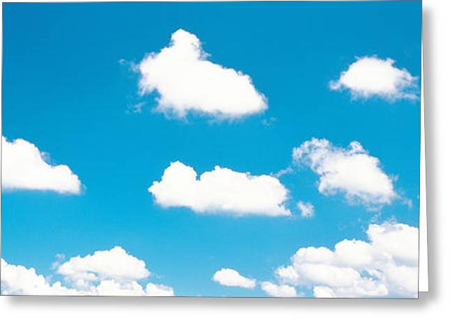 Cumulus Clouds Greeting Cards - Blue Sky And Clouds Greeting Card by Panoramic Images