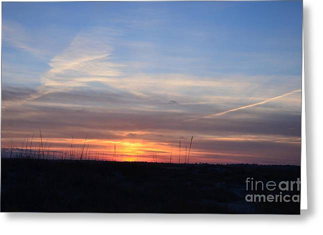 Interior Scene Greeting Cards - Blue Sky At Sunset Greeting Card by Bob Sample