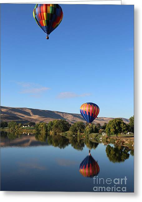Rally Greeting Cards - Blue Sky Balloons Greeting Card by Carol Groenen