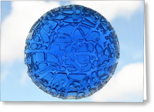 Spheres Sculptures Greeting Cards - Blue Sky Greeting Card by Daniel P Cronin
