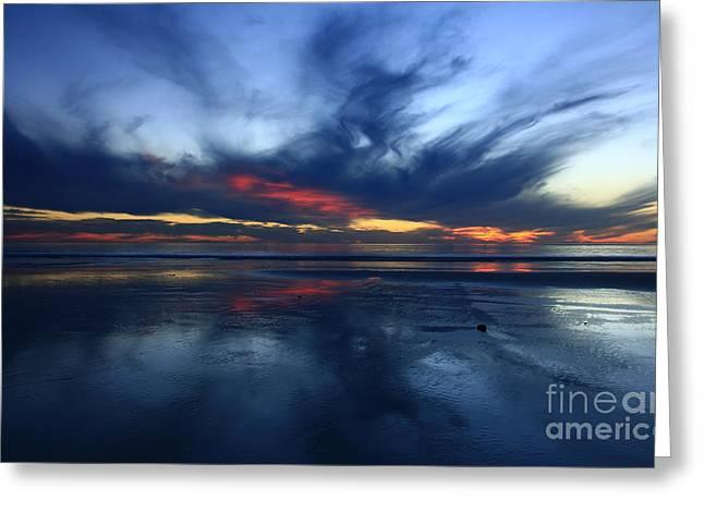 California Beach Art Greeting Cards - Blue Sky Harmony Greeting Card by John Tsumas