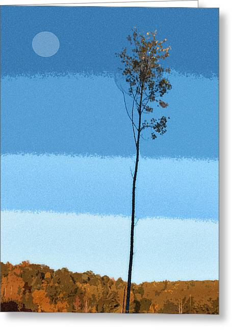 Home Office Furniture Greeting Cards - Blue Sky Tree Greeting Card by Pam Clark
