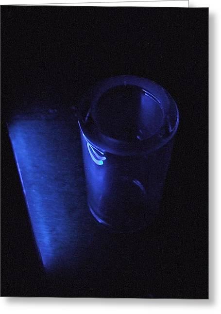 Blue Slide Blues Greeting Card by Everett Bowers