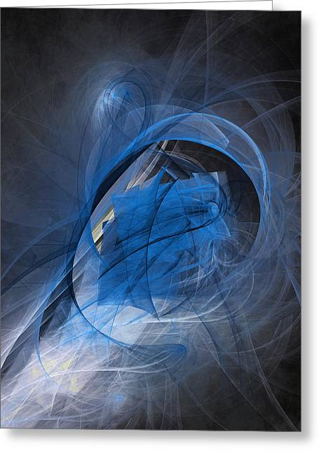 Human Spirit Digital Art Greeting Cards - Blue soul Greeting Card by Martin Capek