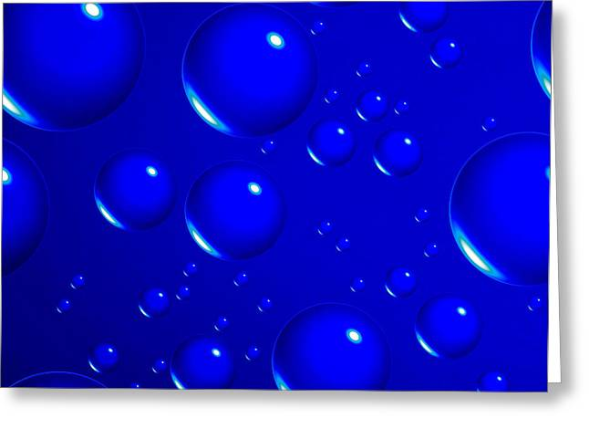 Tom Druin Greeting Cards - Blue Sphere-abstract Greeting Card by Tom Druin