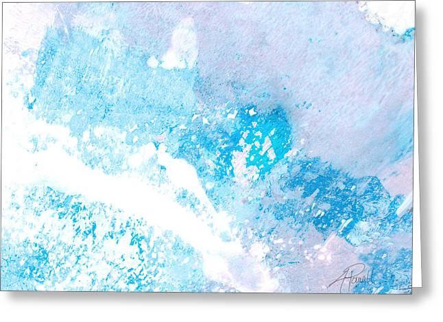 Blue Splash Greeting Card by Ann Powell