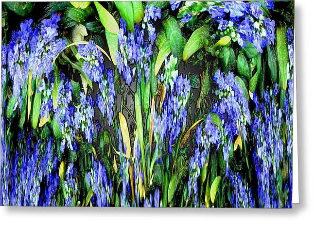 Blue Splat I Greeting Card by Jeff McJunkin