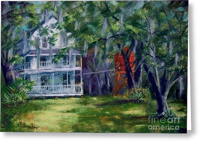 Moss Pastels Greeting Cards - Blue Springs Greeting Card by Bruce Schrader
