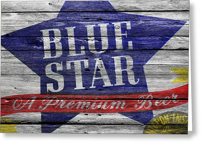Tap Greeting Cards - Blue Star Greeting Card by Joe Hamilton