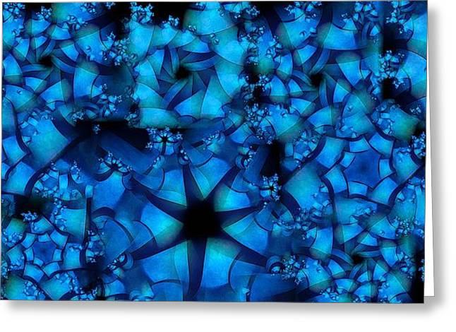 Blue Star Greeting Card by Ron Bissett