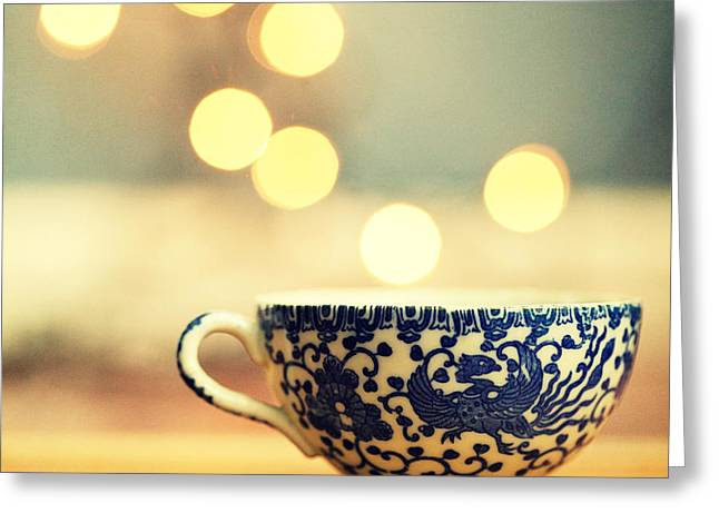 Dreamy Food Photography Greeting Cards - Blue Steamer no. 2 Greeting Card by Amelia Matarazzo