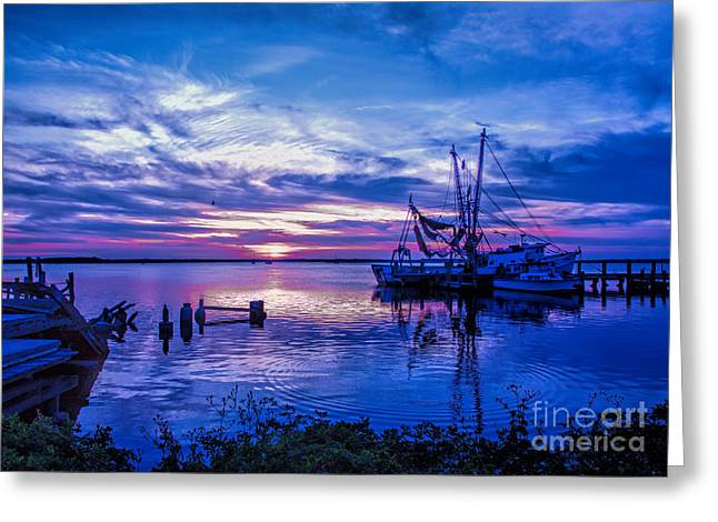 Dave Bosse Greeting Cards - Blue Sunset Greeting Card by Dave Bosse