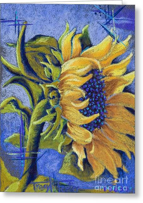 Shines Pastels Greeting Cards - Blue Sunshine Greeting Card by Tracy L Teeter