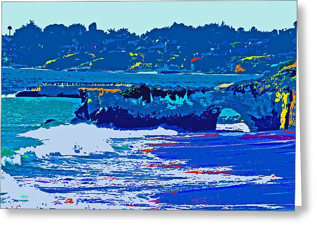 Pacific Ocean Prints Digital Art Greeting Cards - Blue Surf Greeting Card by Joseph Coulombe