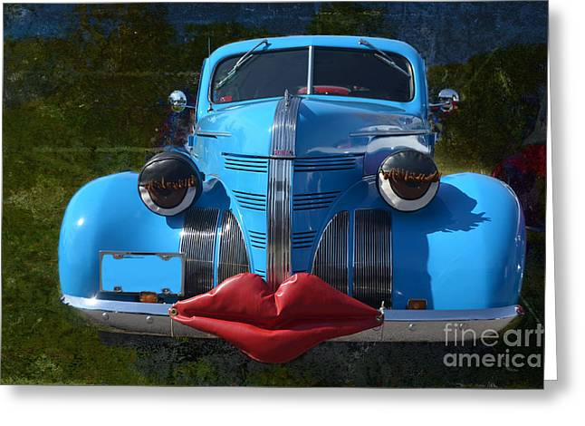 Eyelash Greeting Cards - Blue Sweetie Greeting Card by Luther   Fine Art