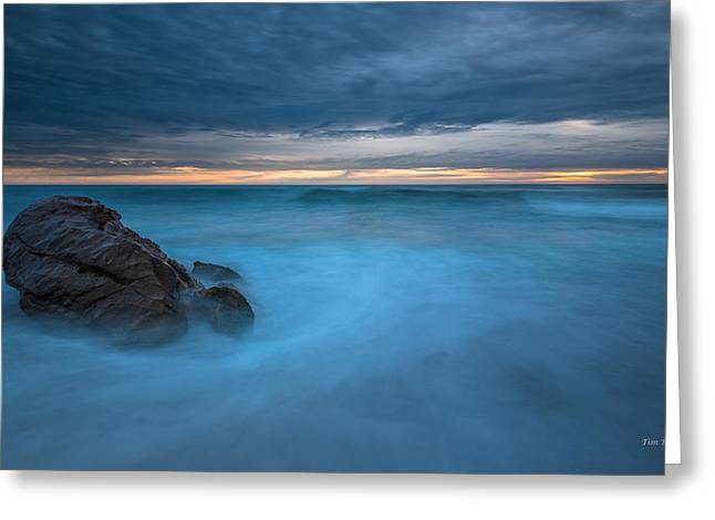 Cambria Greeting Cards - Blue Swirl- Cambria Greeting Card by Tim Bryan