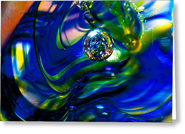 Blue Swirls Greeting Card by David Patterson