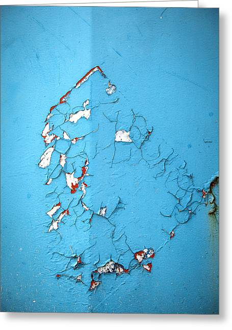 Old Paint Greeting Cards - Blue Texture Greeting Card by Samuel Whitton