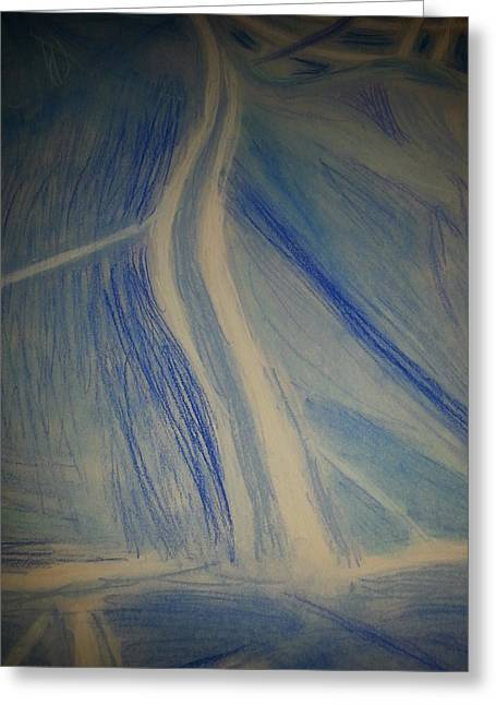 Web Pastels Greeting Cards - Blue Greeting Card by The  Wizard