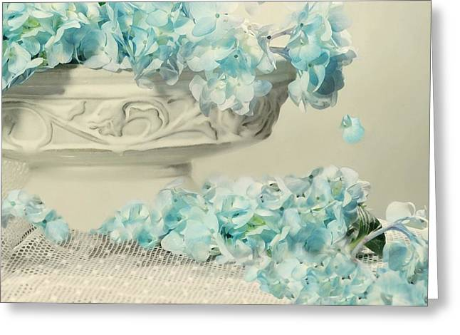 Vase Of Flowers Greeting Cards - Blue Too Greeting Card by Diana Angstadt